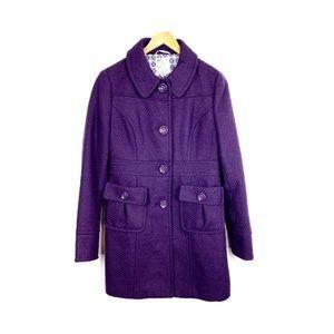 Tulle Jacket Coat Peacoat Purple Size M